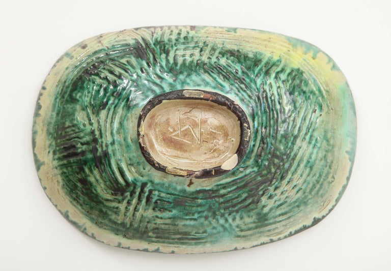 Danish Midcentury Oblong Ceramic Bowl by Allan Ebeling, 1957 For Sale 6