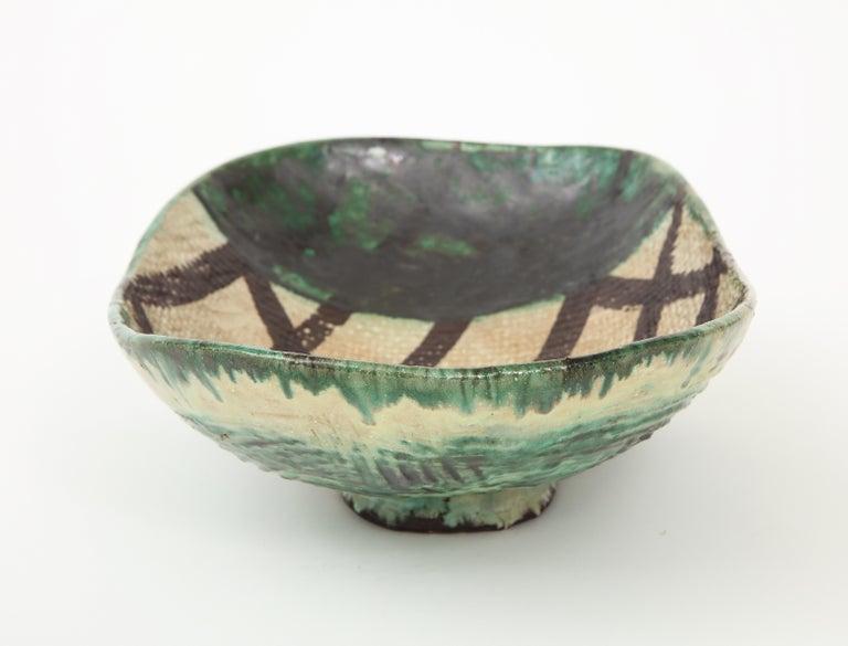 20th Century Danish Midcentury Oblong Ceramic Bowl by Allan Ebeling, 1957 For Sale
