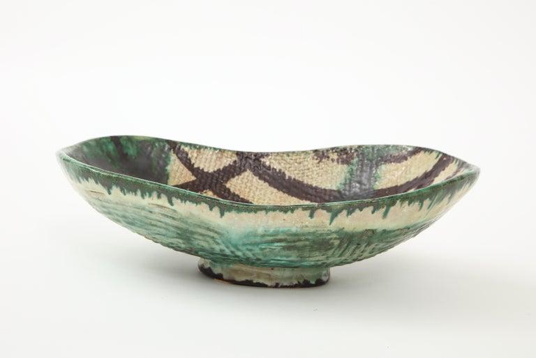 Danish Midcentury Oblong Ceramic Bowl by Allan Ebeling, 1957 For Sale 1