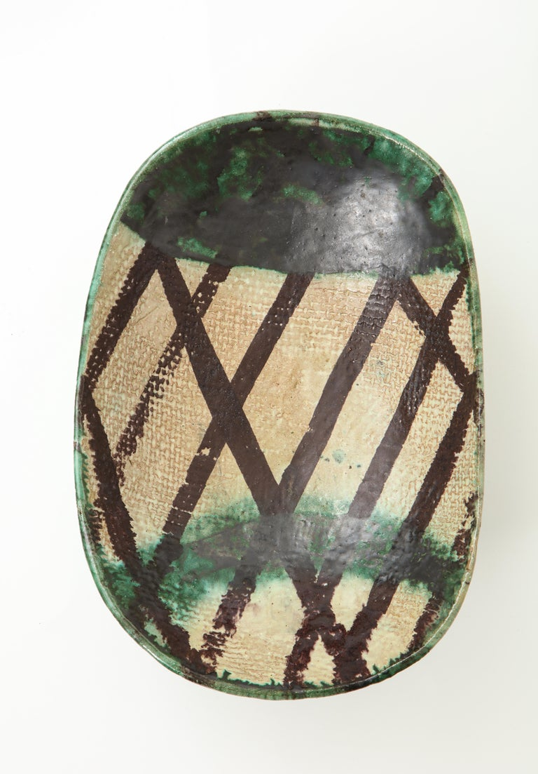 Danish Midcentury Oblong Ceramic Bowl by Allan Ebeling, 1957 For Sale 2