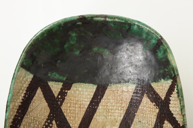 Danish Midcentury Oblong Ceramic Bowl by Allan Ebeling, 1957 For Sale 3