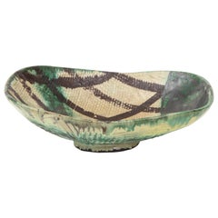 Danish Midcentury Oblong Ceramic Bowl by Allan Ebeling, 1957