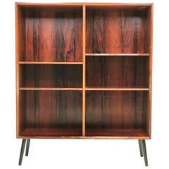 Danish Mid Century Rosewood Bookcase Display Cabinet by Bornholm, 1960s