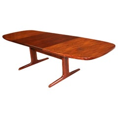 Danish Midcentury Skovby Expandable Rosewood Dining Table
