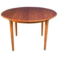 Danish Midcentury Solid Blond Teak Adjustable Dining Table, 1960s