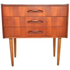 Danish Midcentury Teak Atomic Entry Chest