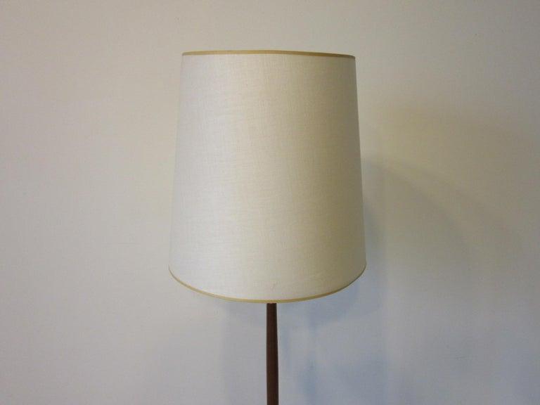 20th Century Danish Midcentury Teak / Brass Floor Lamp