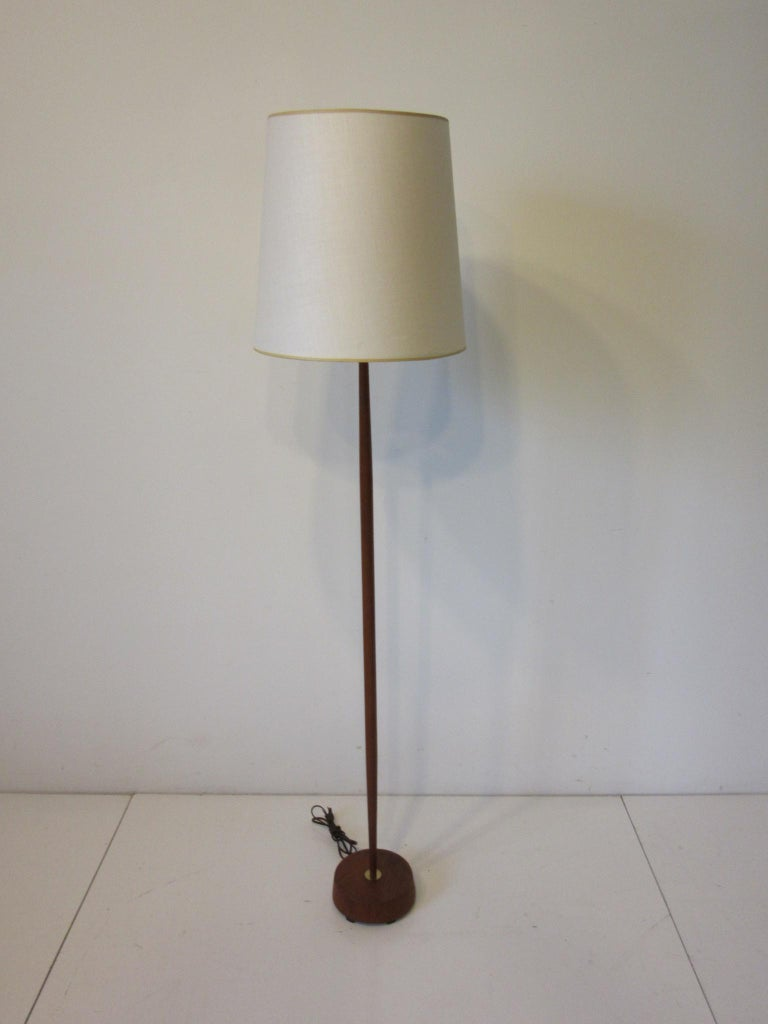 Danish Midcentury Teak / Brass Floor Lamp 1