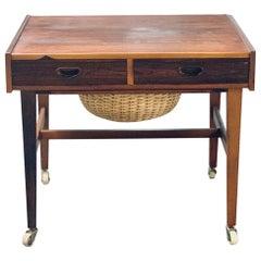Danish Midcentury Teak Cabinet/Sewing Table