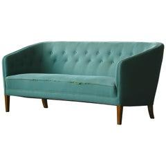 Danish Midcentury Three-Seat Sofa by Ludvig Pontoppidan, circa 1950