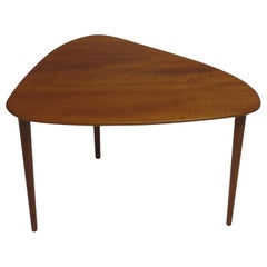 Danish Mid-Century Triangle Side Table of Teak