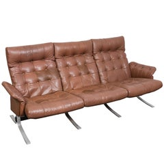 "Danish Mid-Century Tufted Leather ""Atlantis"" Sofa by Ebbe Gehl & Søren Nissen"