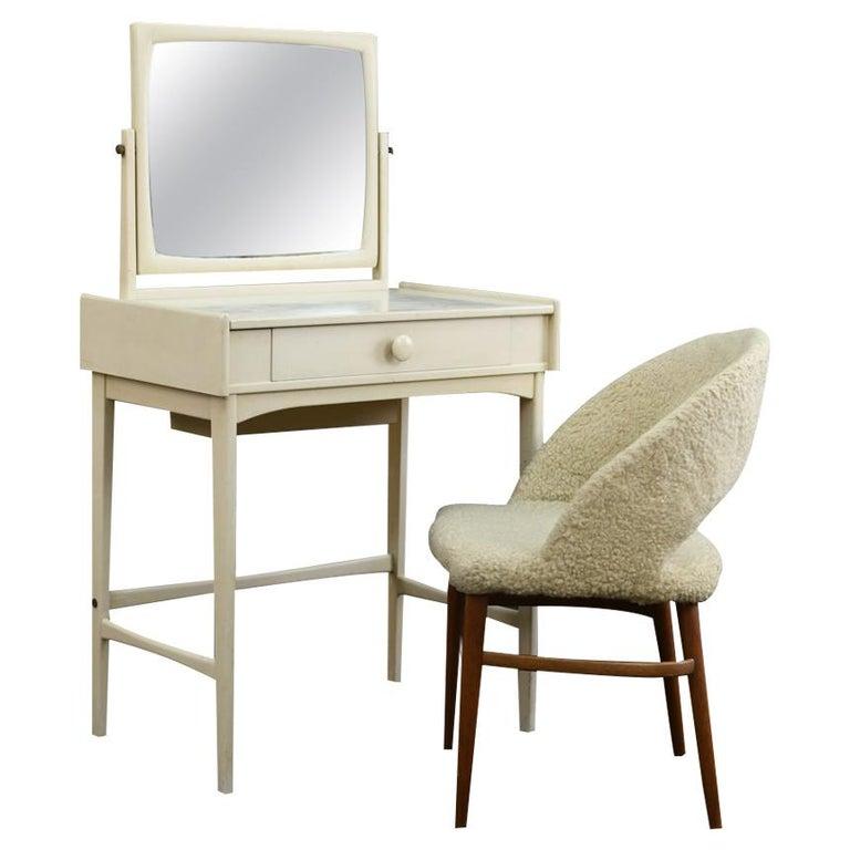 Danish Midcentury Vanity Set For Sale