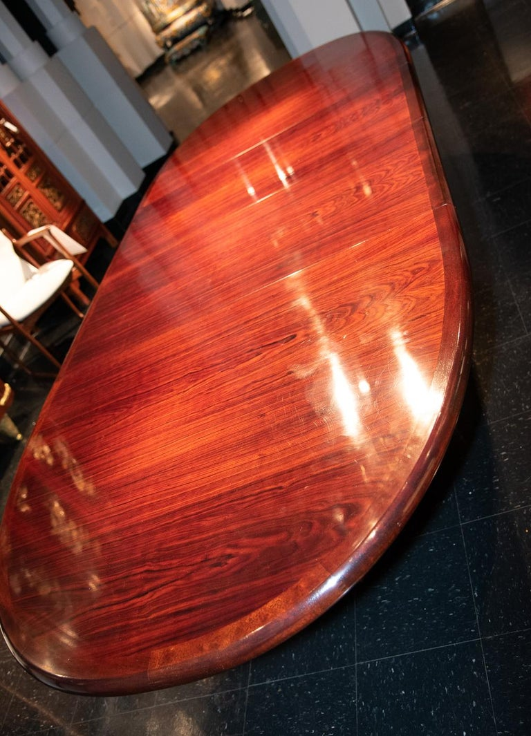 Rosewood Danish Mid-2th Century Dining or Conference Table For Sale