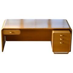 Danish Midcentury 1960s Large Birchwood Desk by Rud Thygesen and Johnny Sorensen
