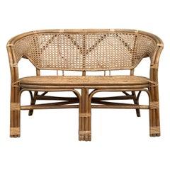 Danish Midcentury Bamboo Sofa, 1960s