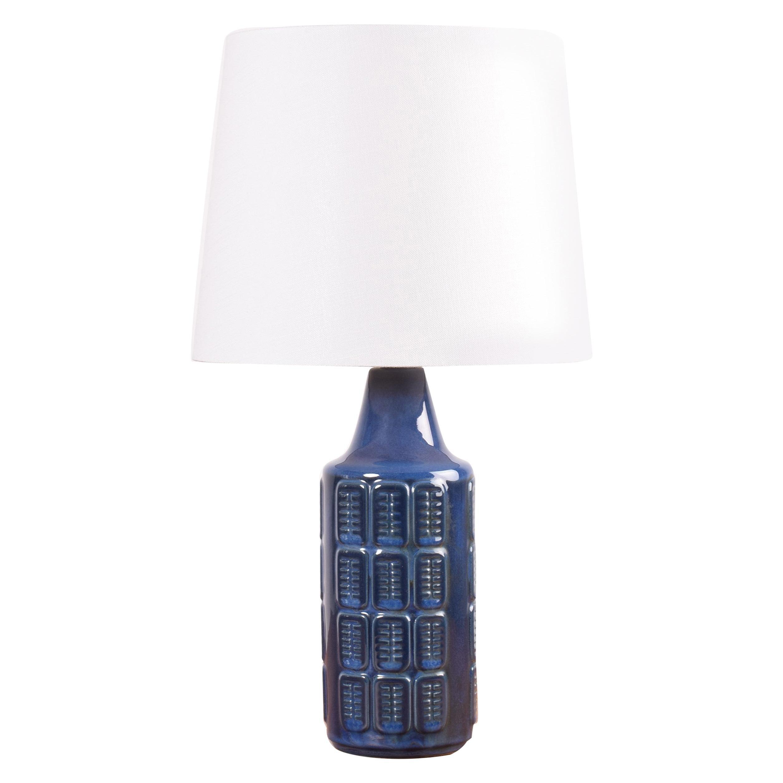 Danish Midcentury Blue Ceramic Table Lamp by Einar Johansen for Søholm, 1960s