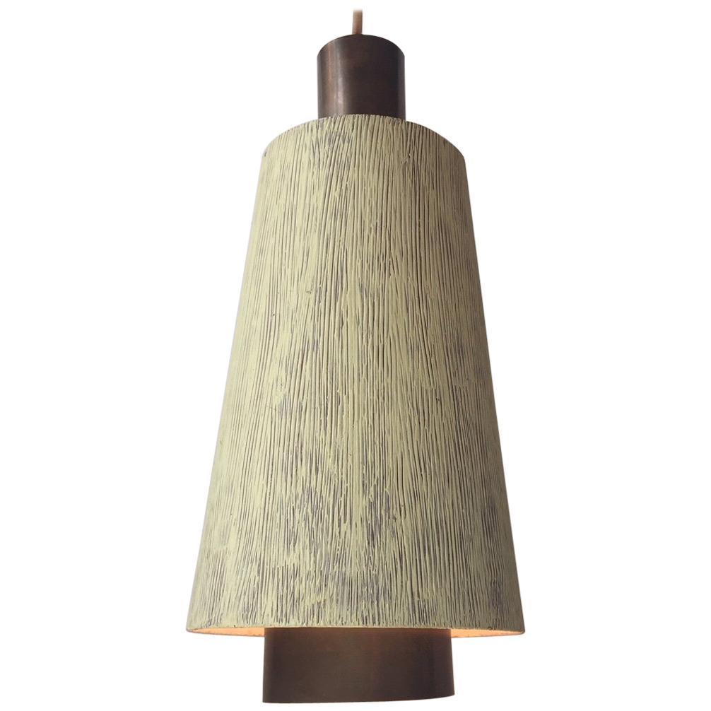 Danish Midcentury Brass Pendant Light from Lyfa, 1950s