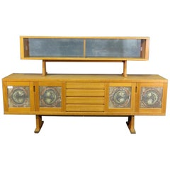 Danish Midcentury Credenza with Tile