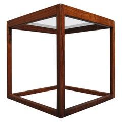Danish Midcentury Cube Table by Kurt Ostervig