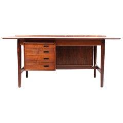 Danish Midcentury Desk in Rosewood by Arne Vodder, 1960s