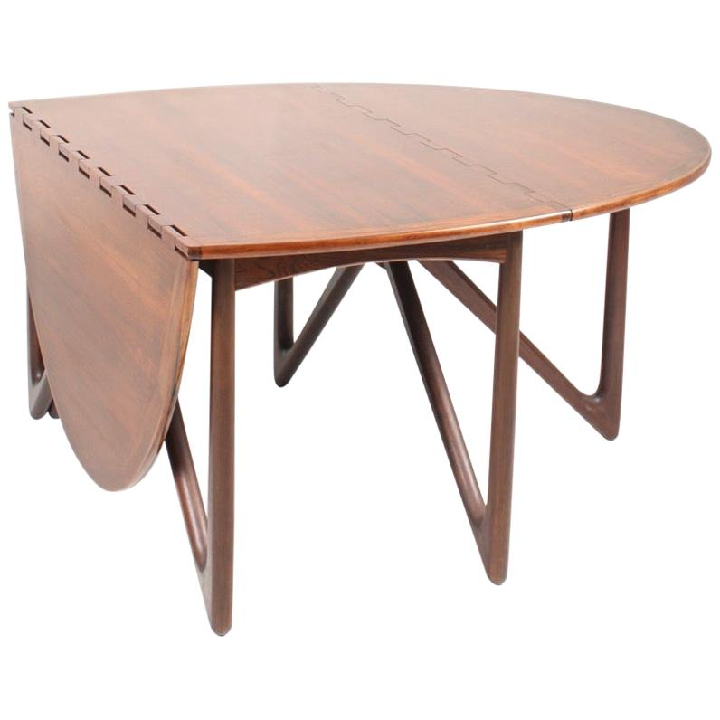 Danish Midcentury Dining Table in Rosewood by Kurt Østervig, 1960s