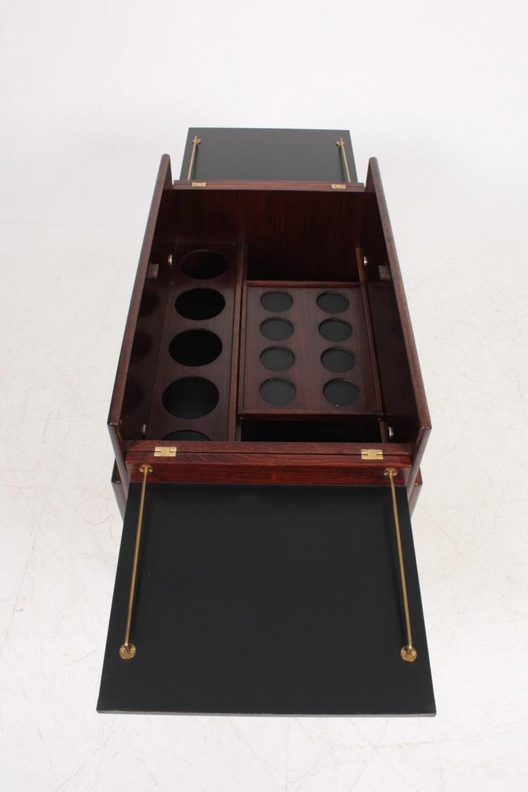 Danish Midcentury Dry Bar Cabinet in Rosewood by Dyrlund, 1960s For Sale 6