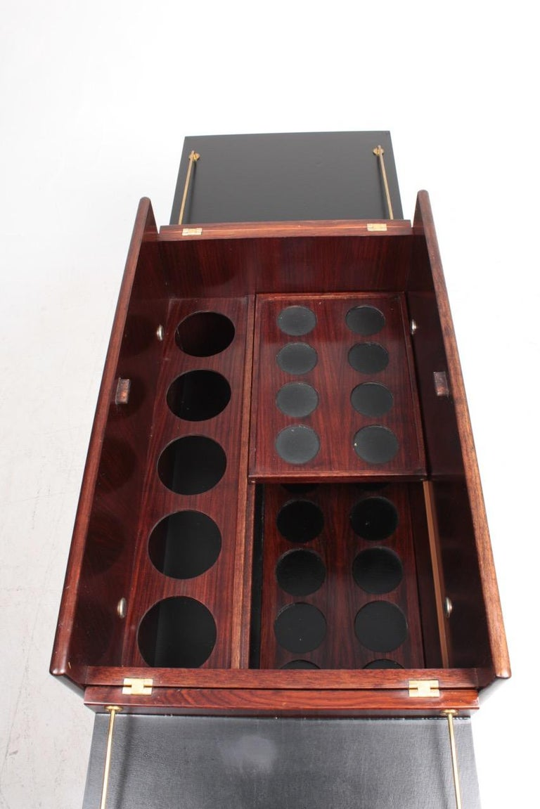 Danish Midcentury Dry Bar Cabinet in Rosewood by Dyrlund, 1960s For Sale 8