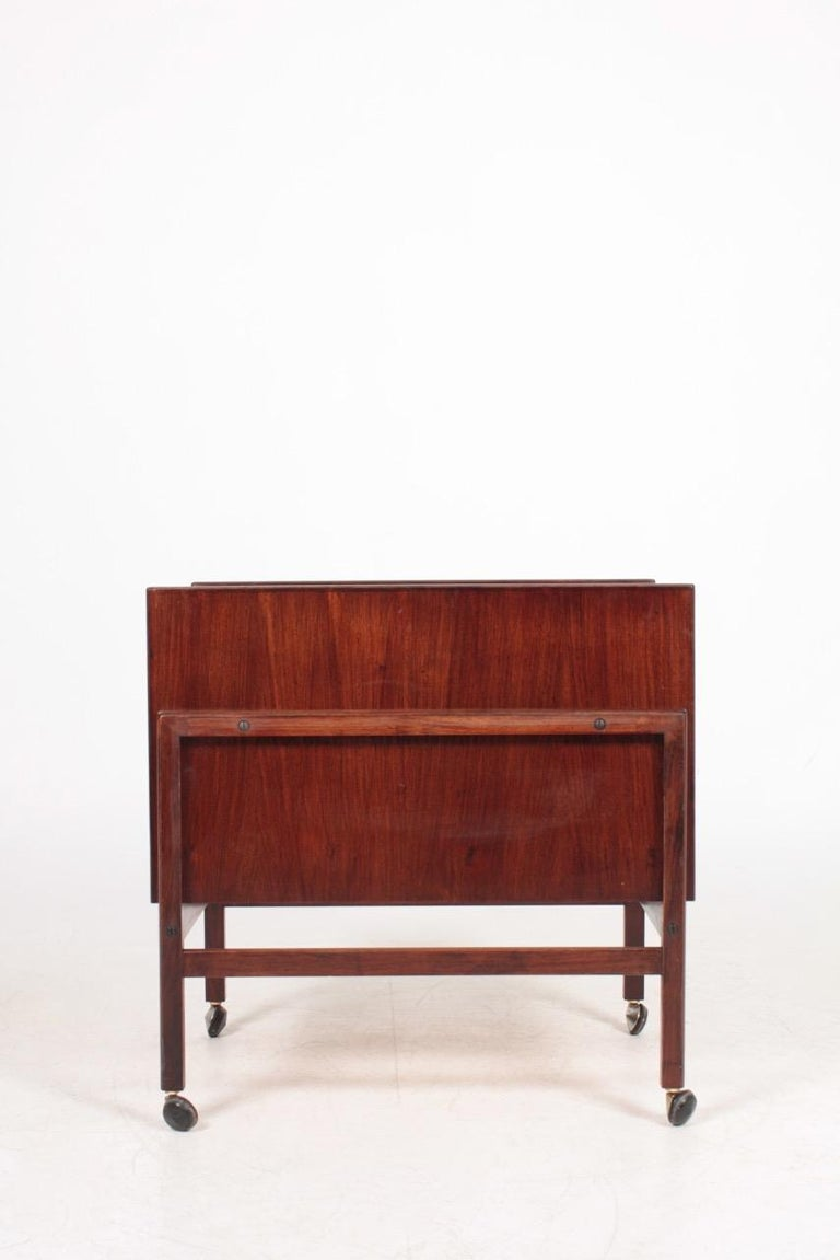 Scandinavian Modern Danish Midcentury Dry Bar Cabinet in Rosewood by Dyrlund, 1960s For Sale