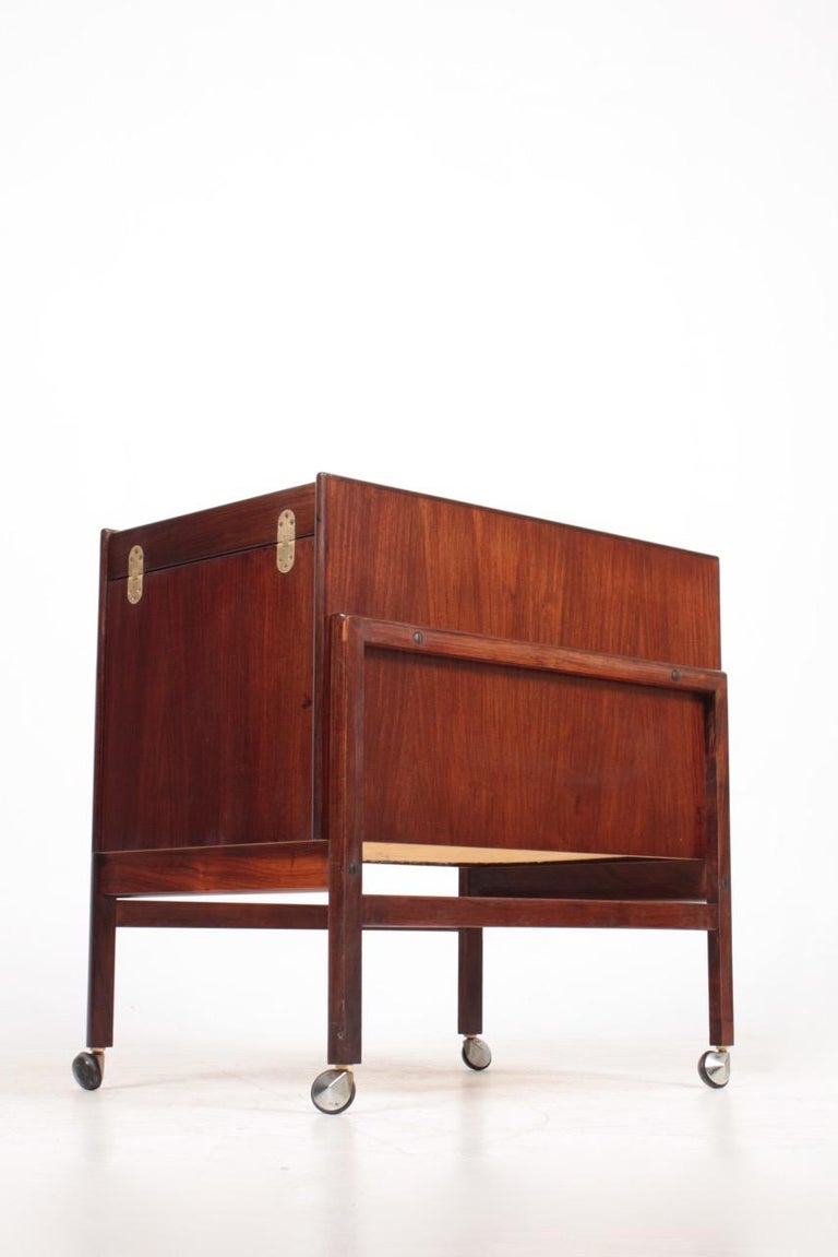 Mid-20th Century Danish Midcentury Dry Bar Cabinet in Rosewood by Dyrlund, 1960s For Sale