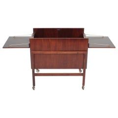 Danish Midcentury Dry Bar Cabinet in Rosewood by Dyrlund, 1960s