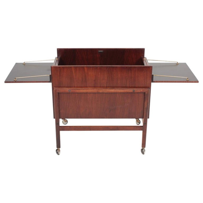 Danish Midcentury Dry Bar Cabinet in Rosewood by Dyrlund, 1960s For Sale