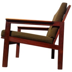 Danish Midcentury Easy Chair in Teak 'Capella' by Illum Wikkelso, 1960s