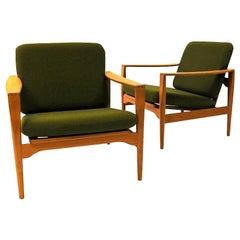 Danish Midcentury Easy Chairs Èk` by Illum Wikkelsø for Niels Eilersen, 1960s