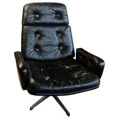 Danish Midcentury Executive Swivel Chair, 1960s
