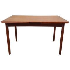 Danish Midcentury Extractable Teak Dining Table