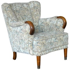 Danish Midcentury Fritz Hansen Style Lowback Lounge Chair