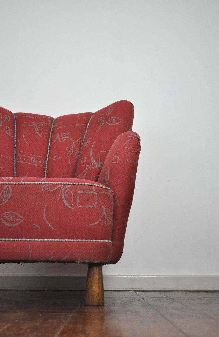 20th Century Danish Midcentury High Back Lounge or Club Chair, 1940s For Sale