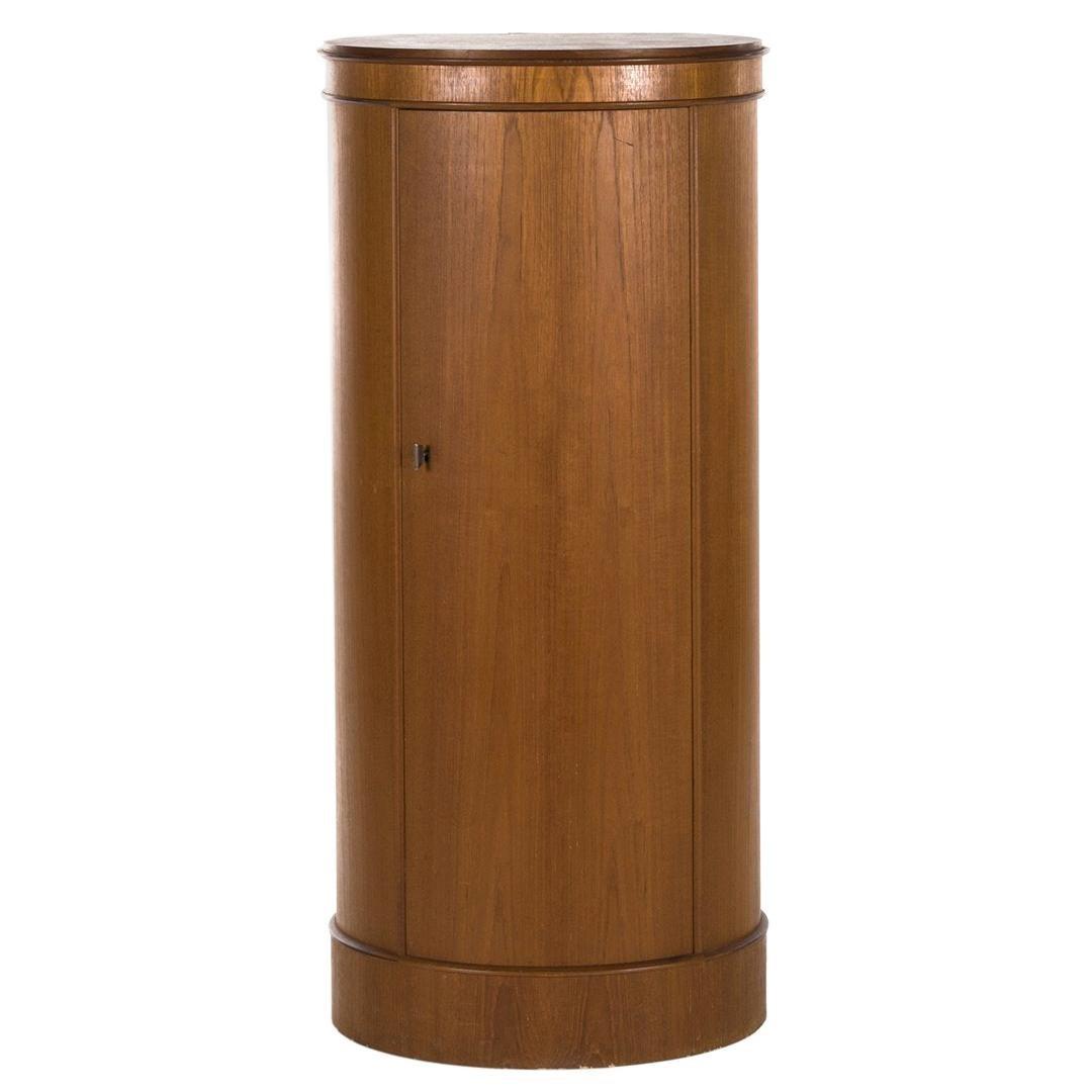 Danish Midcentury Johannes Sorth Semi-Circular Rosewood Bar Cabinet