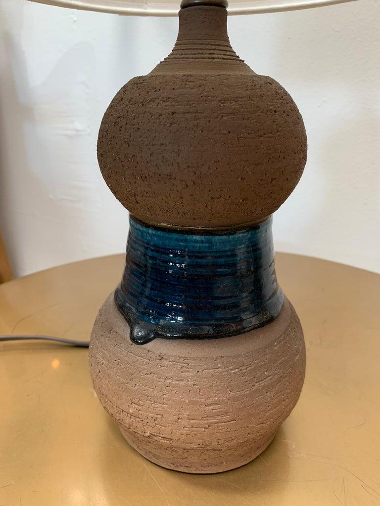 1960s Danish Midcentury Ceramic Lamp For Sale