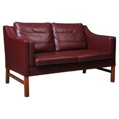 Danish Midcentury Leather Sofa, Okamura & Marquardsen