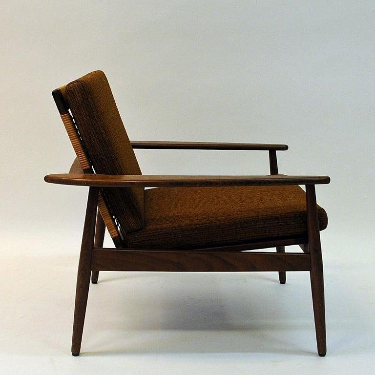 Scandinavian Modern Danish Midcentury Lounge Chair by Hans Olsen for Juul Kristensen, 1960s For Sale