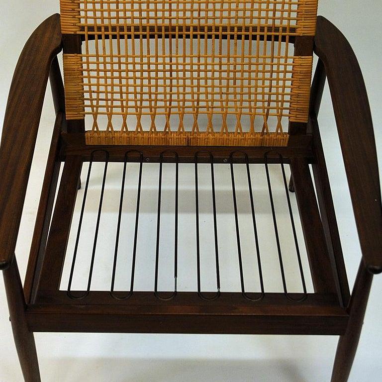 Wool Danish Midcentury Lounge Chair by Hans Olsen for Juul Kristensen, 1960s For Sale