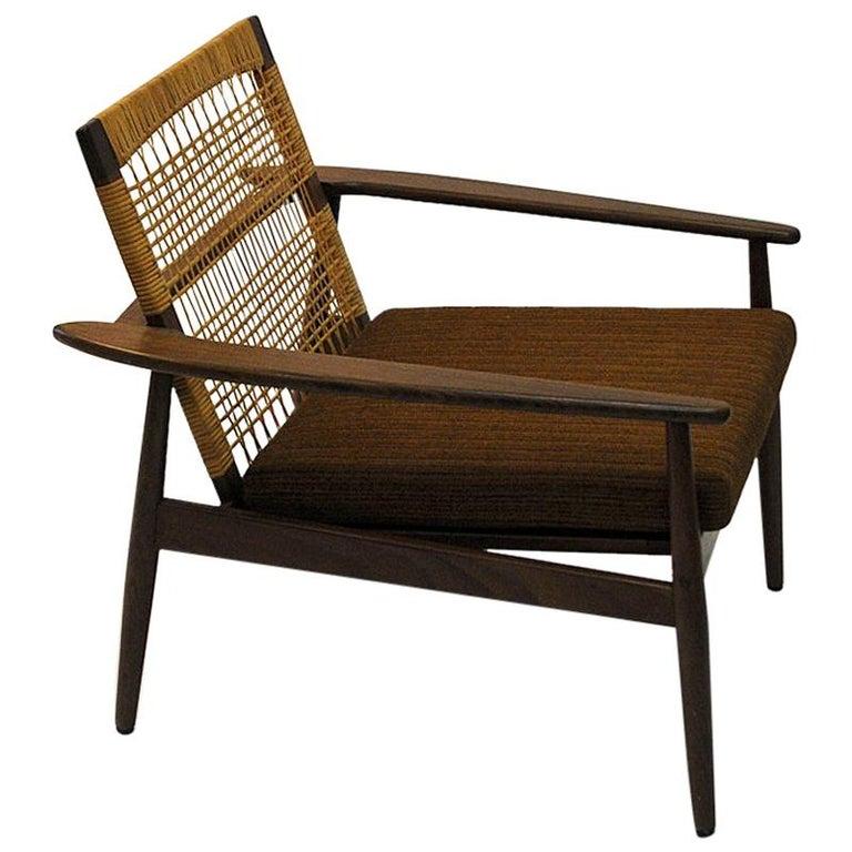 Danish Midcentury Lounge Chair by Hans Olsen for Juul Kristensen, 1960s For Sale