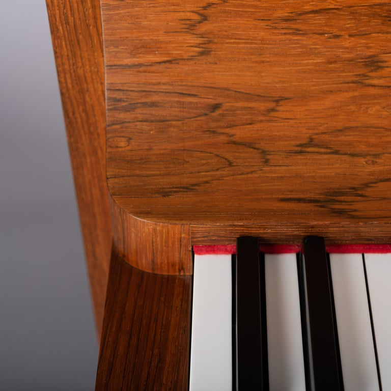 Danish Mid-Century Modern Hardwood Pianette Bij Louis Zwicki, 1960s For Sale 6