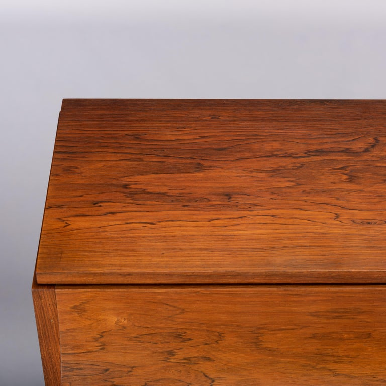 Danish Mid-Century Modern Hardwood Pianette Bij Louis Zwicki, 1960s For Sale 7