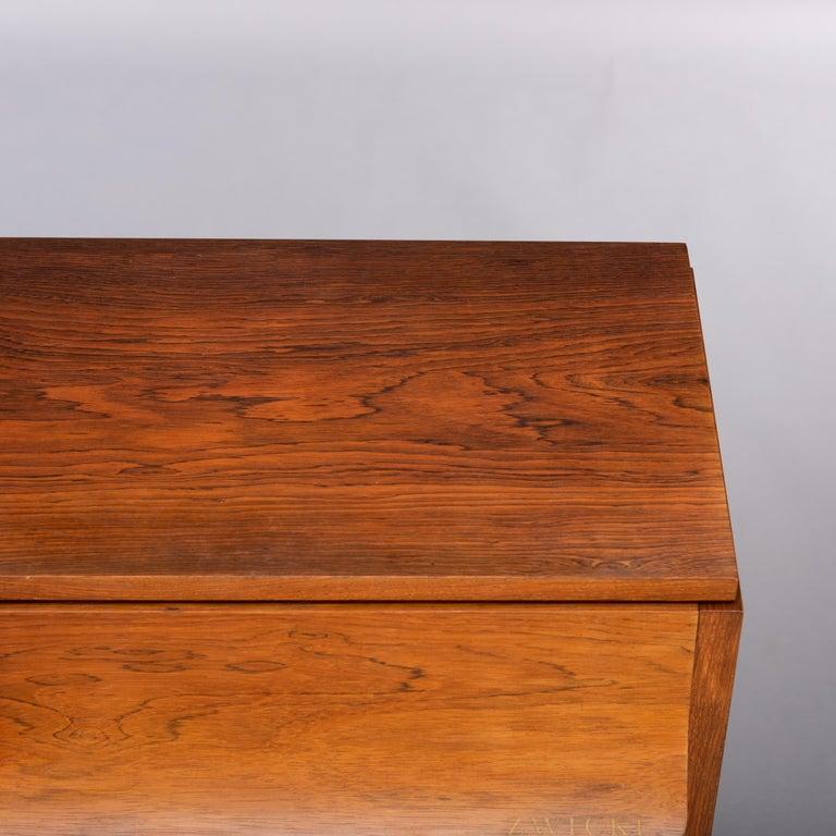 Danish Mid-Century Modern Hardwood Pianette Bij Louis Zwicki, 1960s For Sale 10