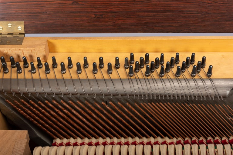 Danish Mid-Century Modern Hardwood Pianette Bij Louis Zwicki, 1960s For Sale 11