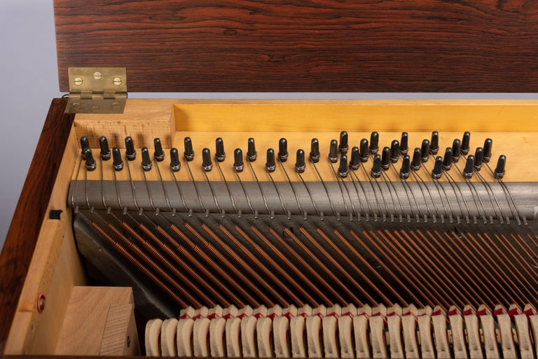 Danish Mid-Century Modern Hardwood Pianette Bij Louis Zwicki, 1960s For Sale 14