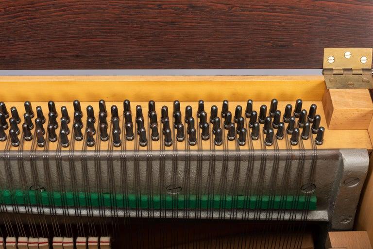 Danish Mid-Century Modern Hardwood Pianette Bij Louis Zwicki, 1960s For Sale 15